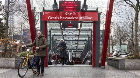 Bewaakte fietsenstalling in Amsterdam