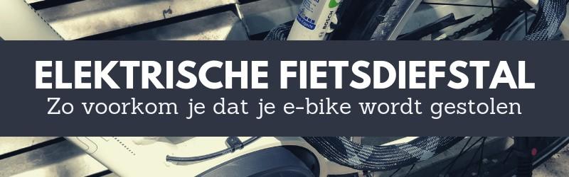 Voorkom dat je elektrische fiets wordt gestolen