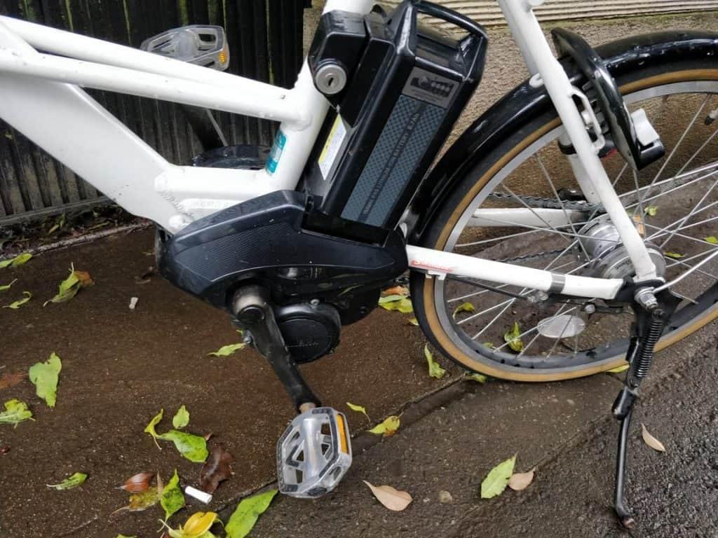 Gehuurde e-bike op straat