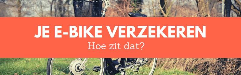 E-bike verzekeren