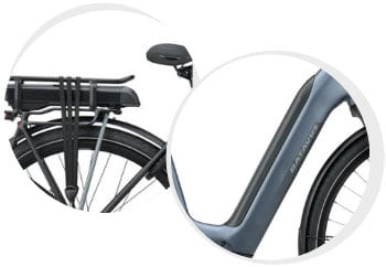 Plaatsing van de accu bij elektrische fiets